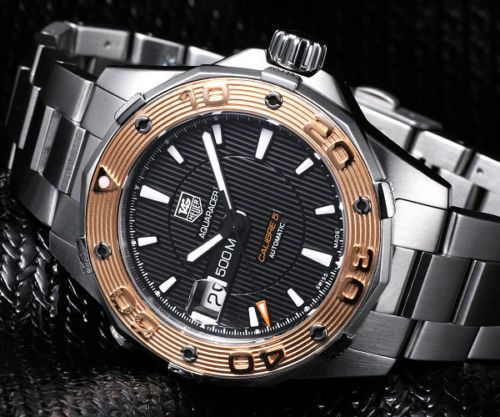 NEW-TAG-HEUER-MENS-AQUARACER-CALIBRE-5-ROSE-GOLD-DIVERS-WATCH-WAJ2150-BA0870