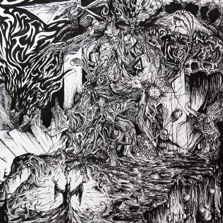 Daemos Das Claflogarus (2014) Ink on paper  250 x 250 mm