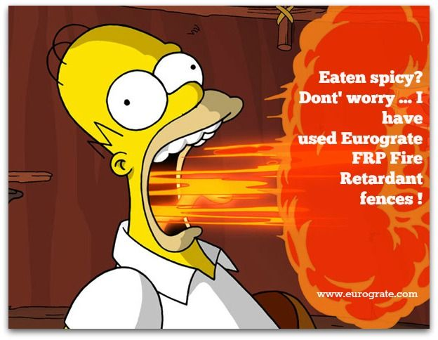 Eaten spicy?check out for our FRP Fire Retardant products @eurogra