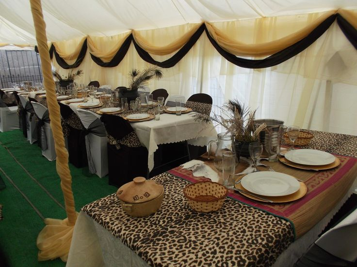 African wedding decor