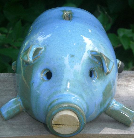 Piggy Bank Blue by MoonshineJug> Your favourite piggy banks: http://www.helpmetosave.com/2012/02/piggy-bank/