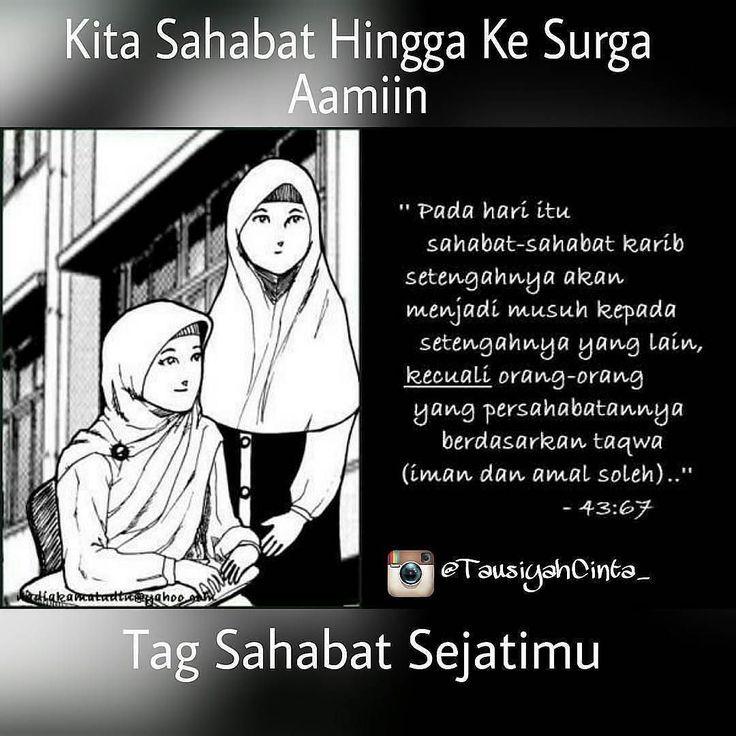 """Hadiah untuk Sahabat-sahabat Sholihah . .  Umar bin Khattab Radhiyallahu anhu Berkata: Tidaklah seorang hamba diberi kenikmatan yg lebih besar setelah keislaman selain sahabat yg sholih. Maka apabila kalian mendapati teman yg sholih peganglah ia erat-erat"""" .  Berkata Luqman Al hakim pada anaknya: . .  Wahai anak ku hendaknya yg pertama engkau usahakan setelah keimanan kepada Allah adalah mencari sahabat yg jujur. Karena ia ibarat pohon bila engkau duduk berteduh di bawahnya ia akan…"""