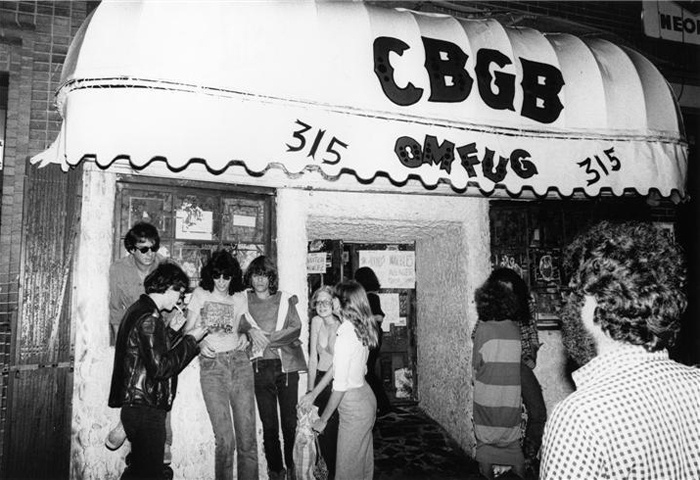 The Ramons outside CBGB in NYC