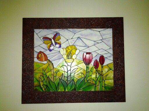 Pintura en vitral