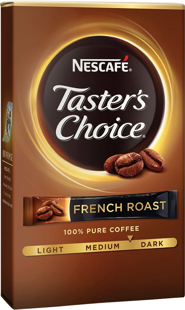 Taster's Choice French Roast Single Serve Coffee Packets - NESCAFÉ French Roast single serve packets is our darkest roast yet made from 100% pure premium coffee beans.