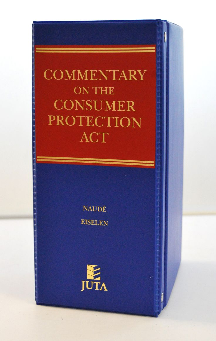 Commentary on the Consumer Protection Act (expected December 2014) written by a team of consumer law experts, provides the first comprehensive review of the Consumer Protection Act 68 of 2008 – or 'the CPA' as it is commonly known. The authors provide a detailed explanation of each section of the CPA and of the schedules to the Act. Case law in the area of consumer protection is presented and analysed in a clear, concise manner.  Published by Juta Law