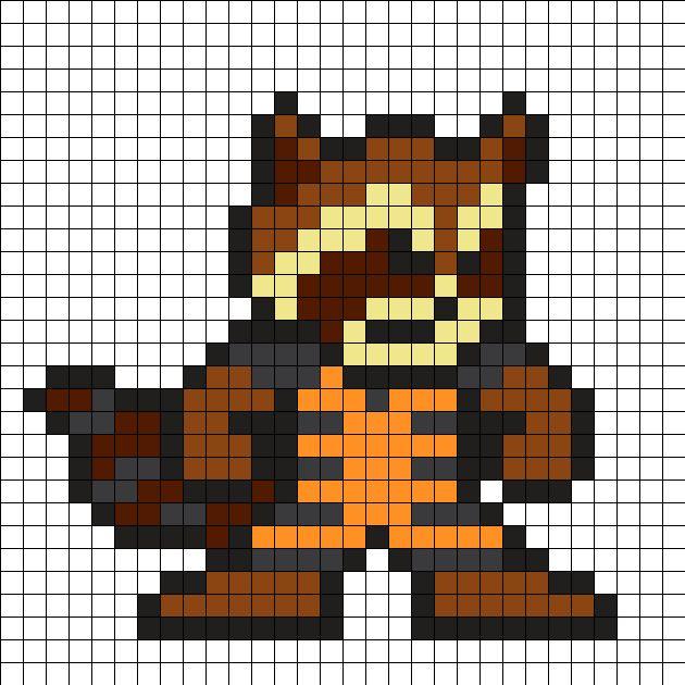 Rocket Raccoon - Guardians of the Galaxy Perler Bead Pattern