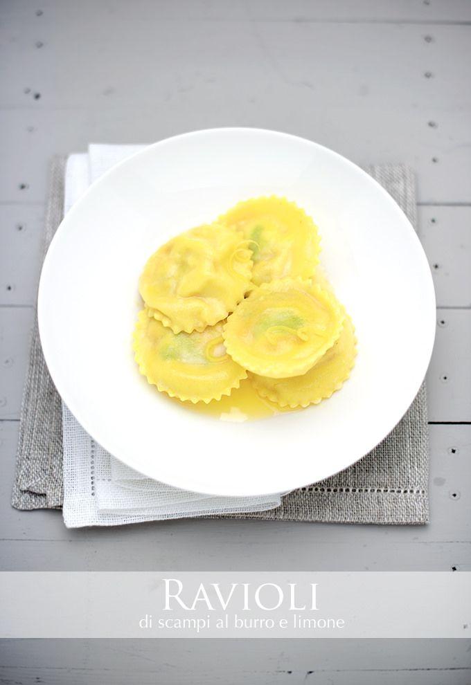 ravioli di scampi con burro e limone www.pane-burro.blogspot.it