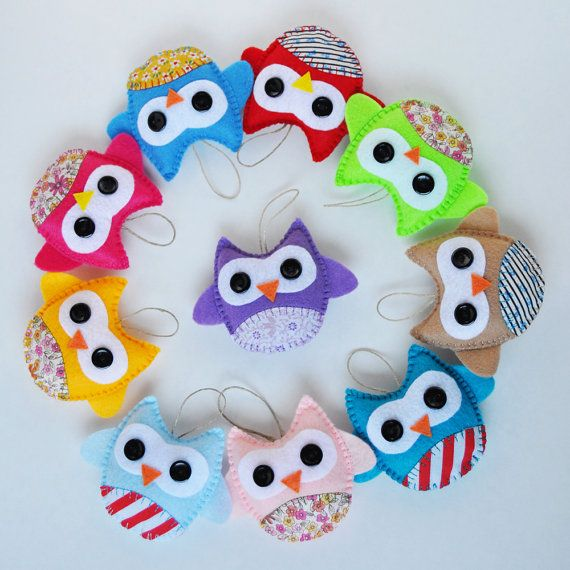 Wholesale 10 eco friendly owl ornaments baby by carrotfever 55 00