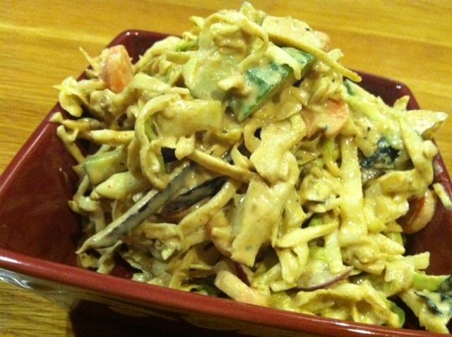 Miso-Tahini Cabbage Slaw | salads | Pinterest