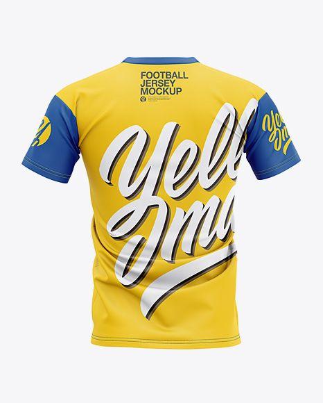 Download Men S Football Jersey Mockup Back View In Apparel Mockups On Yellow Images Object Mockups In 2020 Clothing Mockup Design Mockup Free Mockup