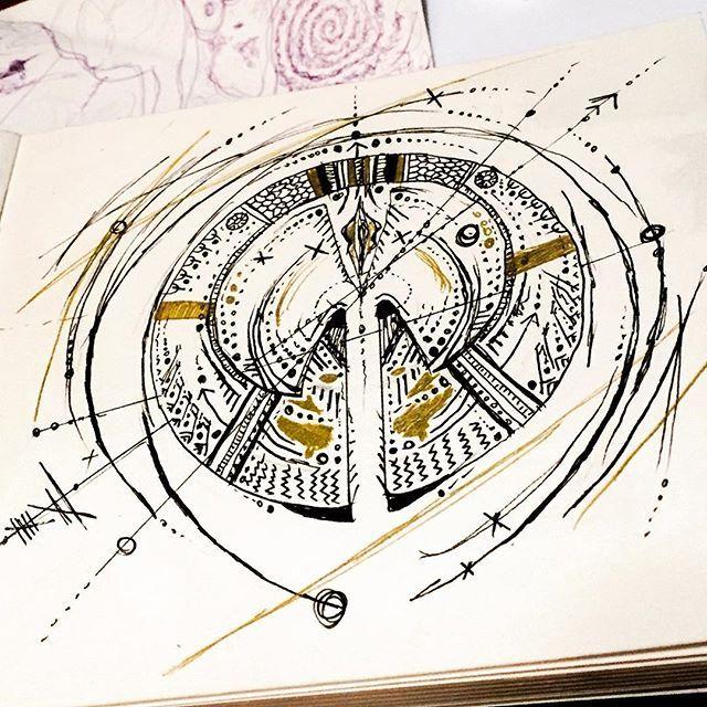 Phillipino remix#drawing #art #graphisme #exhibition #phillipine #phillipino #dessin #design #detail #details #ifugao #kalinga #bop #marionbeaupere #ink #tattoo