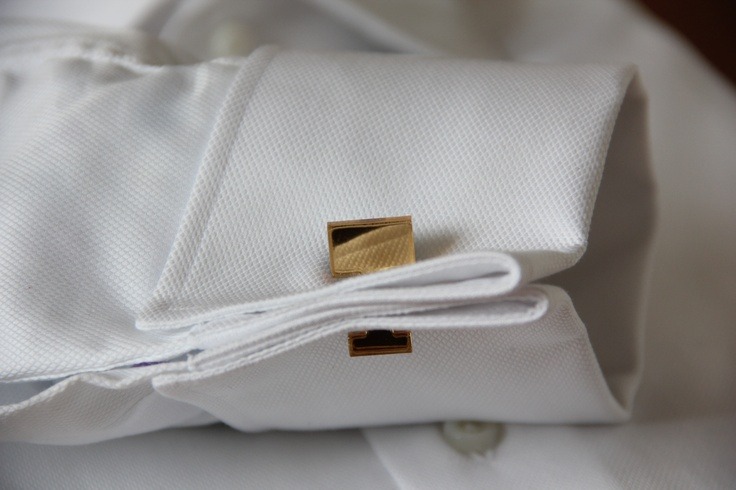 Golden mirrored cufflinks