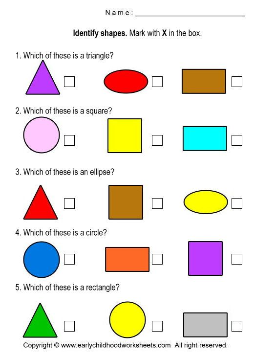 Free printable shapes worksheets Shapes Pinterest