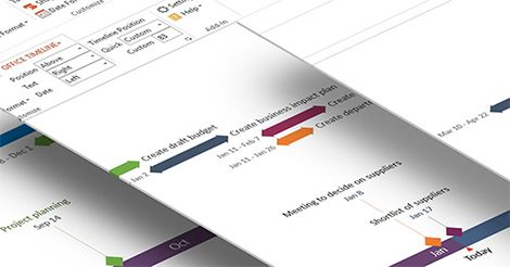 PowerPoint timelines made easy! Create beautiful timeline or Gantt chart slides for important presentations with our free, award winning timeline maker.