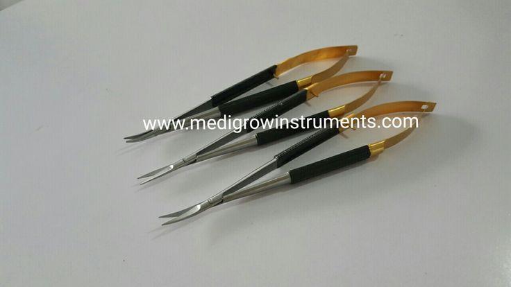 castroviejo micro needle Holder and micro scissors