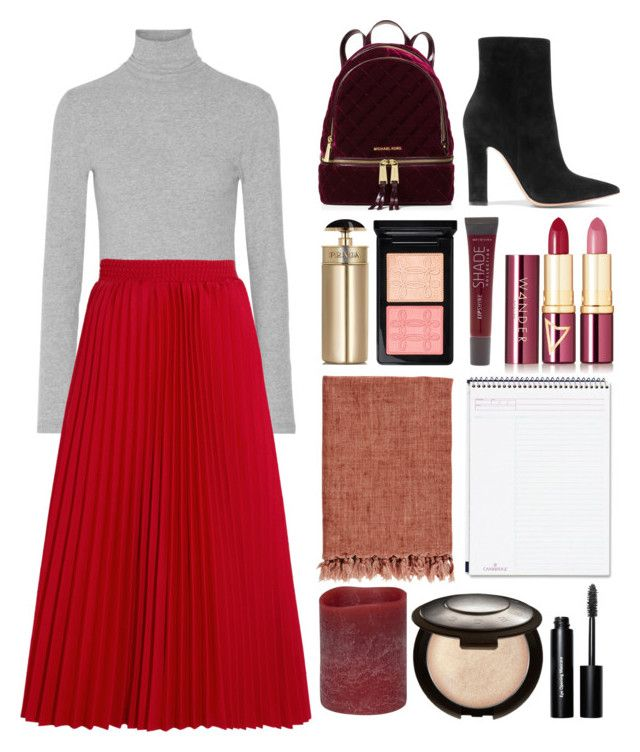 """""""5.304"""" by katrina-yeow ❤ liked on Polyvore featuring James Perse, Balenciaga, MICHAEL Michael Kors, Gianvito Rossi, Prada, MAC Cosmetics, Lane Bryant, Wander Beauty, Mead and Energizer"""