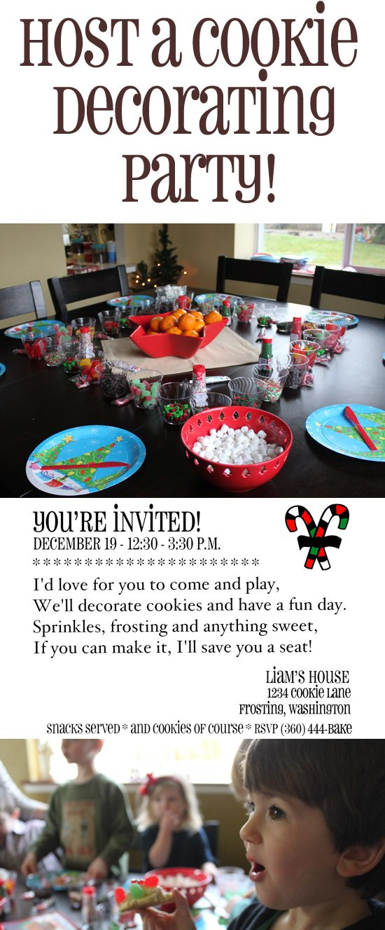 Host a cookie decorating party! Fun, frugal and delicious! http://queenbeecoupons.com/