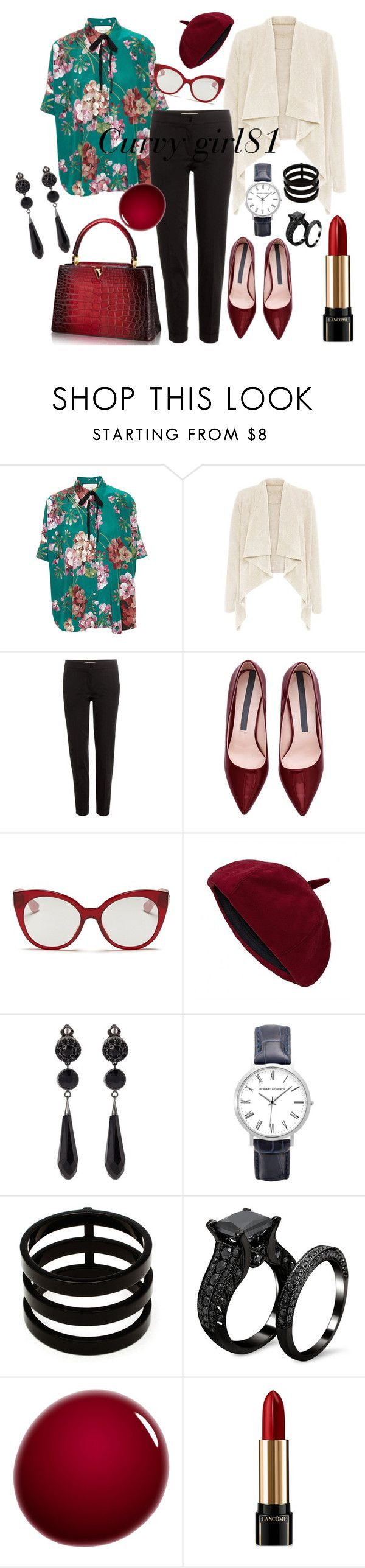 """pretty red flowers"" by pretty-girl81 on Polyvore featuring moda, Gucci, Etro, Miu Miu, Givenchy, Repossi, NARS Cosmetics, Lancôme, women's clothing e women"