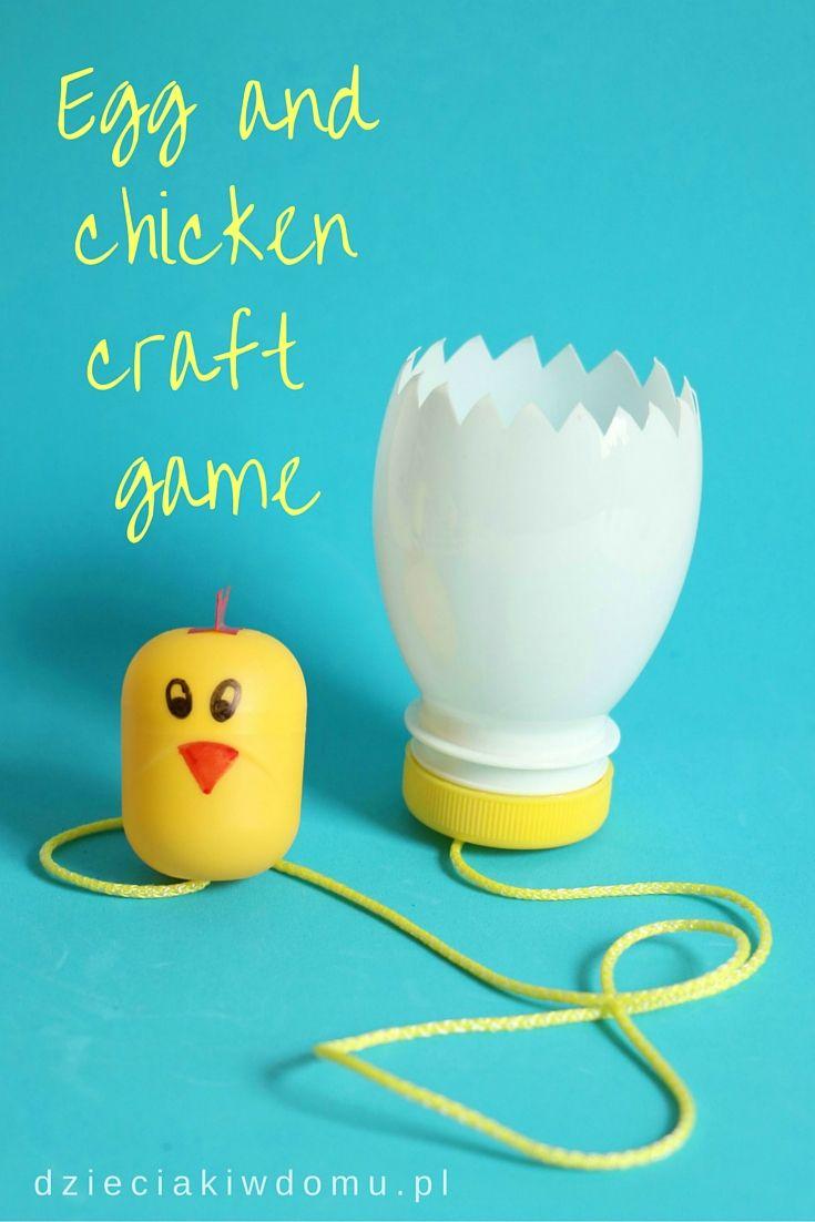 Egg and chicken craft game for kids / zabawka zręcznościowa dla dzieci DIY