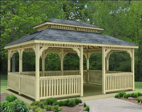 14' x 32' Treated Pine Rectangular Double Roof Gazebo by Fifthroom. $15499.00