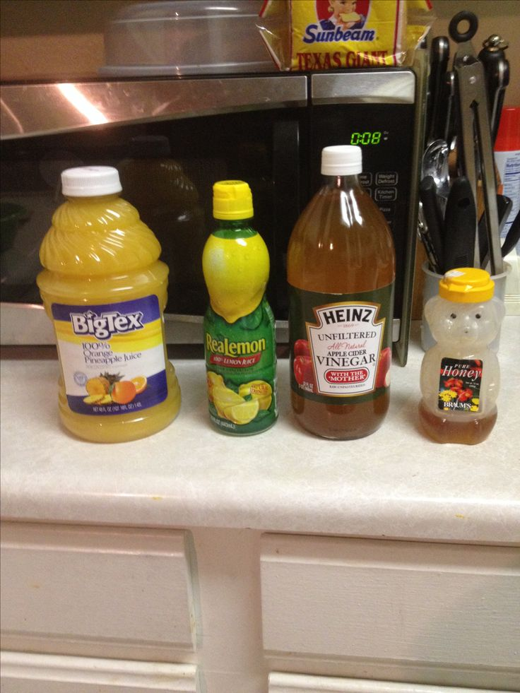 apple cider vinegar and orange juice and honey