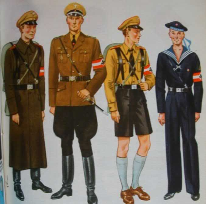 An example of what uniforms Nazi group members would wear ...
