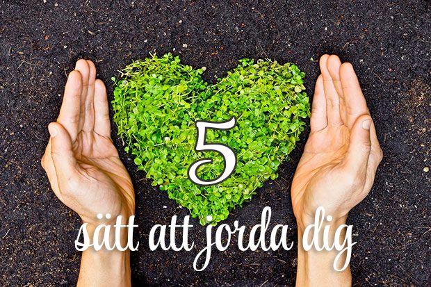 5 sätt att jorda dig