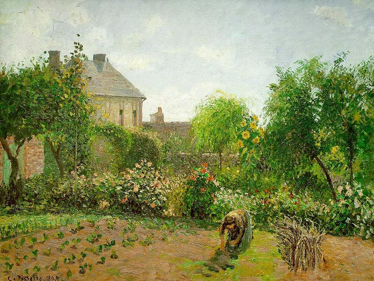 Campo de coles by Camille Pisarro, favorite impressionist.. next to monet of course :)