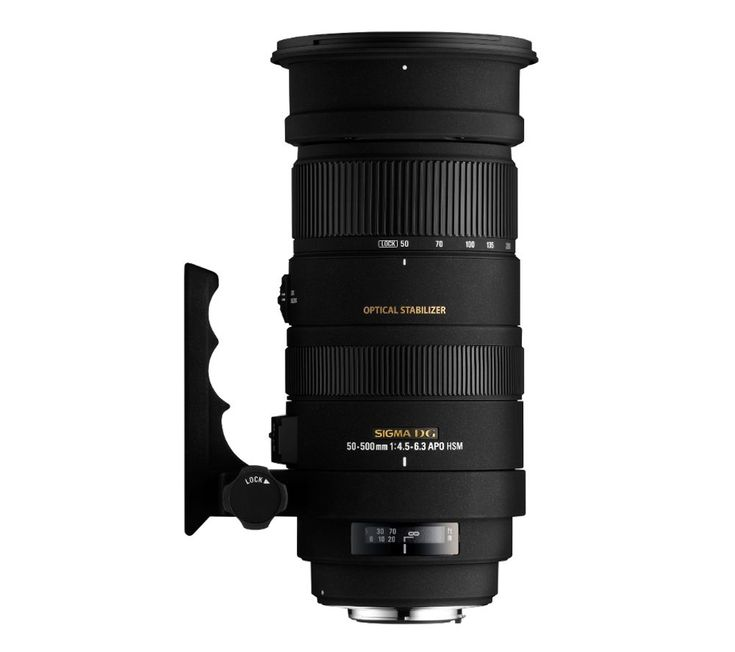 SIGMA  50-500mm f/4-6.3 APO EX DG HSM Telephoto Zoom Lens - for Canon Price: £ 849.00 Top features: - Optical stabilisation makes every shot clearer - Quality focusing with special lens elements - Easy to handle design with a removable tripod support Optical stabilisation Offering full frame coverage with a huge zoom range, the Sigma 50-500mm f/4-6.3 Telephoto Lens is perfect for shooting...
