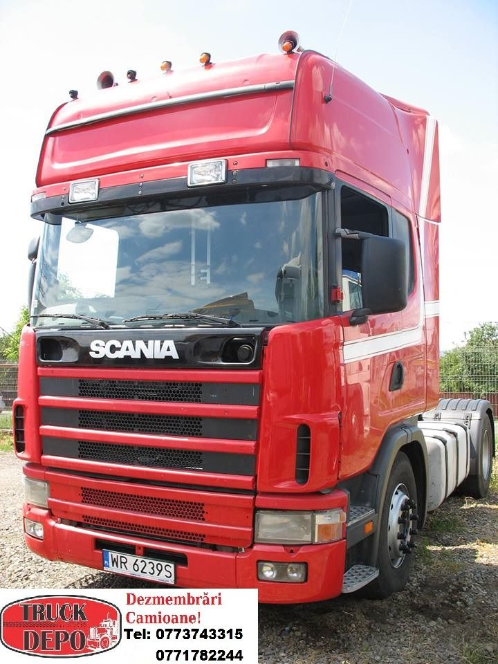 Dezmembrez Scania R124. Pentru mai multe detalii, contactati-ne: 0773 743 315, 0771 782 244, 0365 424 682, office@truckdepo.ro .