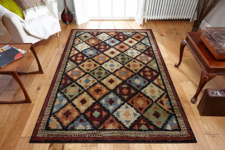 Impressive geometric design with the beauty of traditional look and feel, Florenza multicoloured rug is a stunning way to lift your decor. #geometricrugs #multicolouredrugs #multifloralrugs #largerugs #largegeometricrugs #runners #geometricrunners