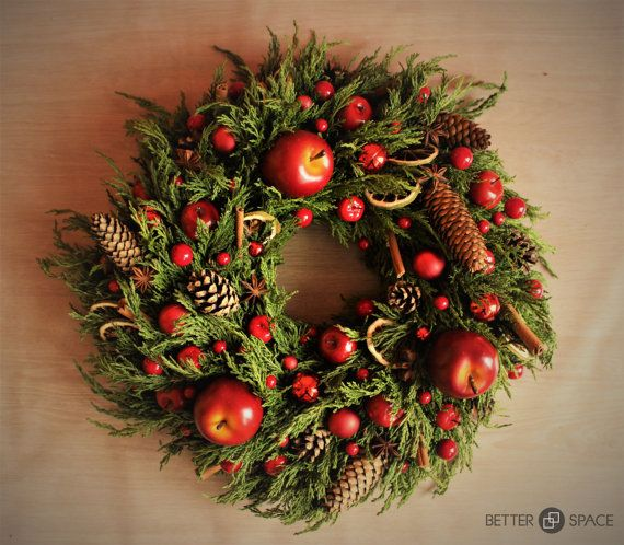 MAGNIFICENT NATURAL WREATH. Smells like by BetterSpacePl on Etsy