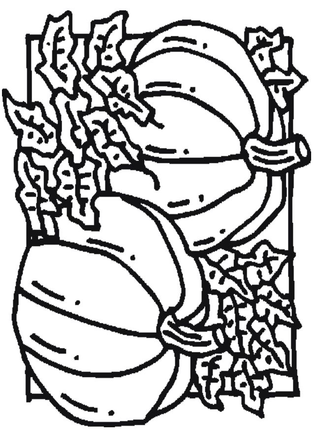 Pumpkin Coloring Page Dltk 030