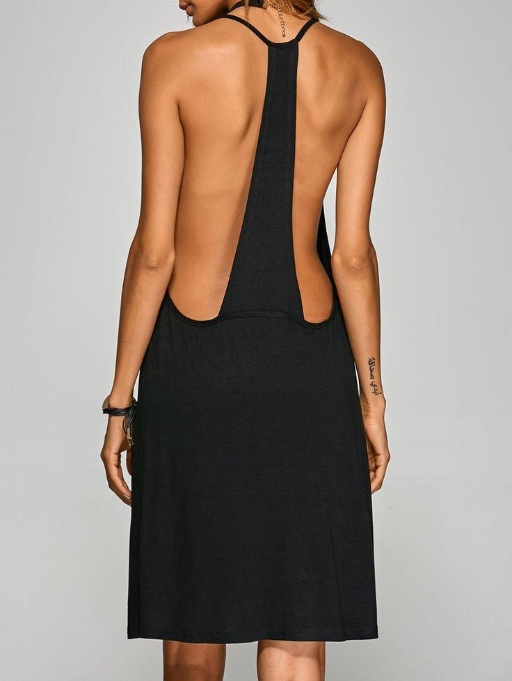 $11.99 Racerback Cami Dress BLACK: Spring Dresses 2017 | ZAFUL