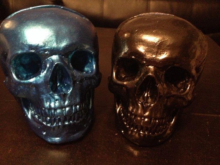 Kreepy Kulture Business card holders Metallic painted skulls