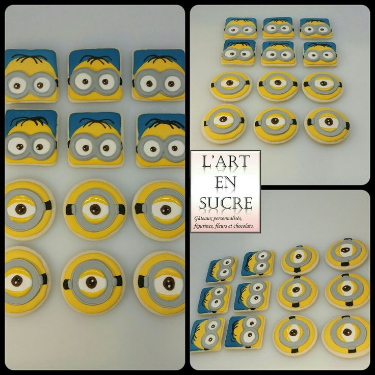 Biscuits minions Minions cookies