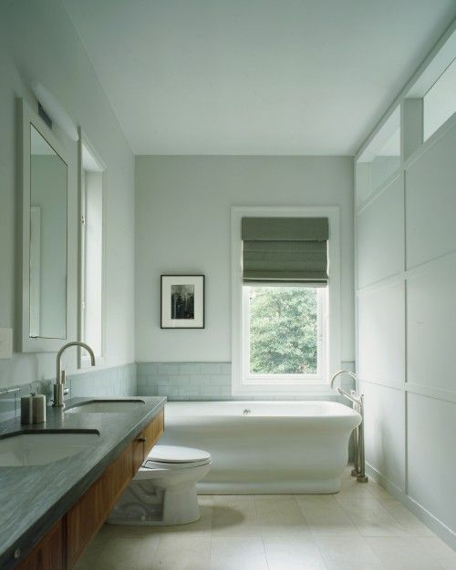 Long Narrow Bathroom With Floating Vanity Bathroom Remodel Inspiration Pinterest