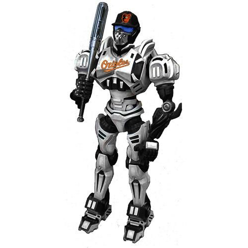 "Foam Fanatics MLB 10"" Team Cleatus Robot - Baltimore Orioles"