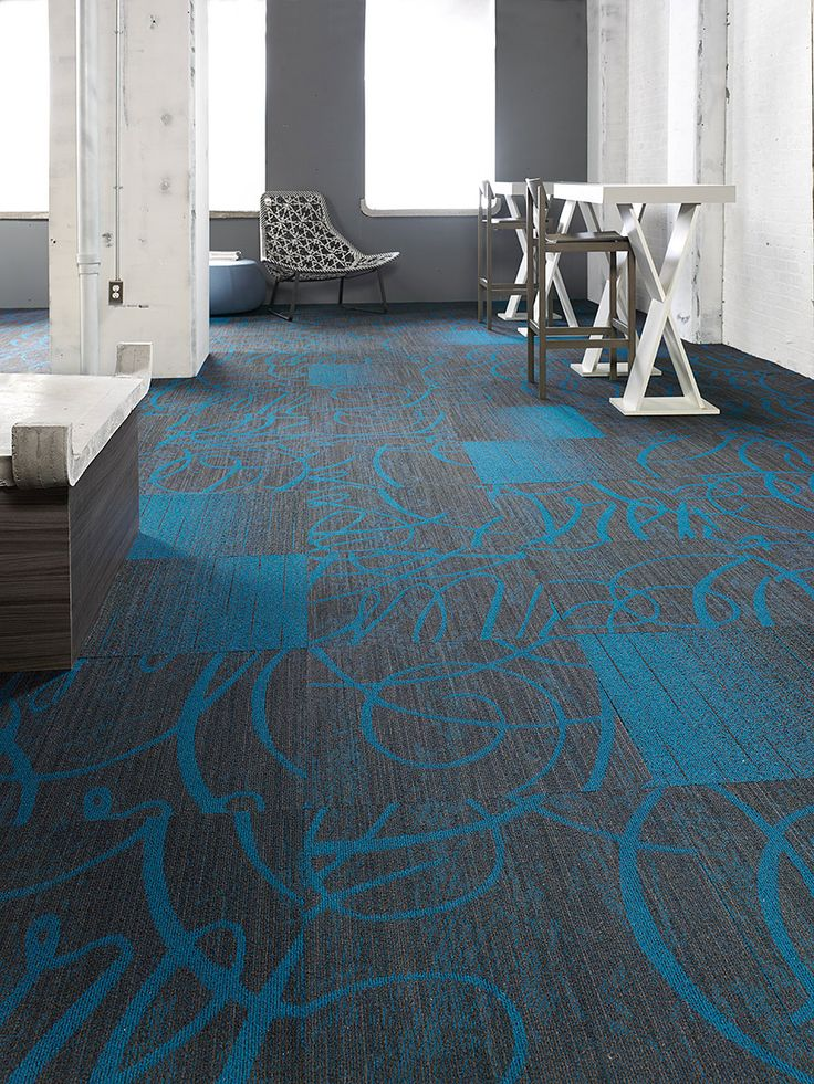 Super Fresh Tile, Lees Commercial Modular Carpet | Mohawk Group. Colour: 569 coordinating with Pop Icon.