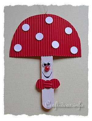 Craft Stick Mushroom