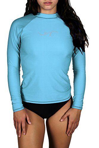33a0b9da0b39d Women s Plus Size Long Sleeve Rashguard UPF 50 Swim Shirt