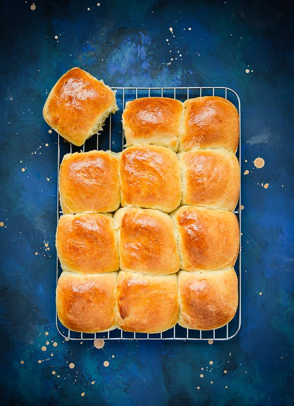 """SOFT BREAD ROLLS ~~~ paraphrased, """"usually my aim when making bread is to produce something with a complex taste, a dense crumb and a crisp crust. not with this recipe; this is for when you want a light fluffy roll or something to wrap around your meatloaf."""" [thingswemake]"""
