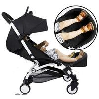 Wish | Baby Stroller Foot Extension Feet Rest Board Baby Stroller Accessories For Baby Yoya Stroller (Color: Black)