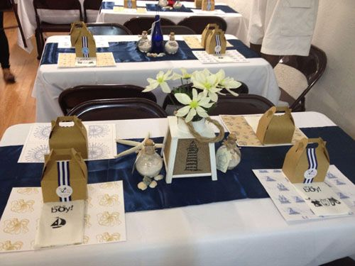 nautical themed centerpieces | ... and white nautical themed baby shower centerpieces inspired by boats