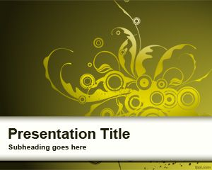 Yellow Curly Sprout PowerPoint Template is a free abstract design template that you can download for simple presentations with a sprout template design style