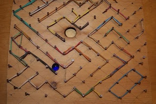 3 ideas for homemade marble mazes.