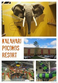 Kalahari Resort Review -- the Kalahari Resort in the Pocono Mountains in Pennsylvania is the ultimate theme hotel for families. This African themed hotel offers a huge indoor waterpark with attractions for toddlers through teens (and beyond).