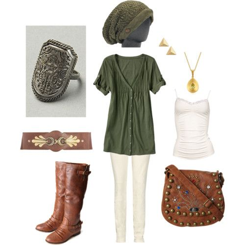 """Outfit inspired by the video game """"Legend of Zelda"""" made via polyvore"""