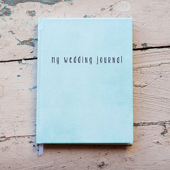Wedding Journal, Notebook, Wedding Planner - Personalized, Customized, Wedding Date and names, custom design, choose colors